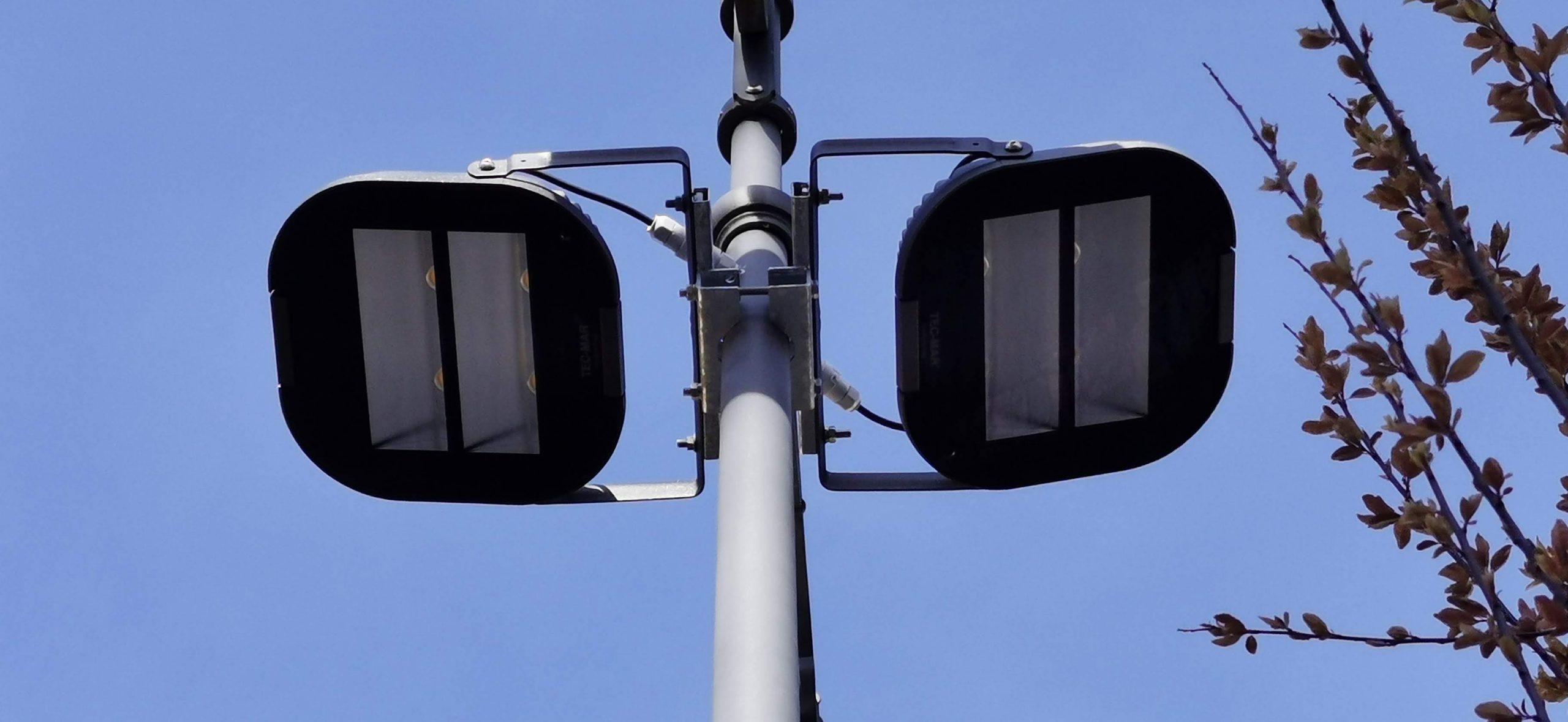 immagine di un faro a led per illuminazione pubblica