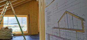 particolare impianto elettrico casa in legno